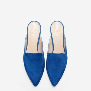 Cole Haan Pointed Toe Piper Mule in Blue Size 5.5